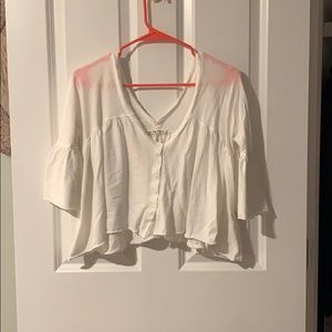 Free People Cropped 3/4 Length tee